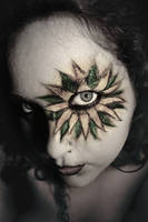 FacePaint Selfportrait by SitaMushroom