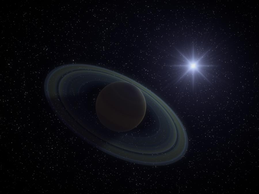 Planet Saturn render by PyroDragoness