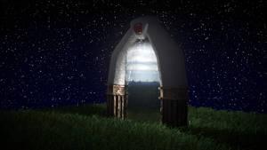 3D Spyro Portal at night
