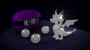 Spyro life statue and pearls
