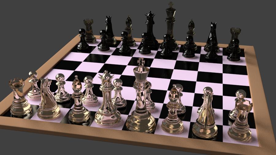 3d Chess Set Hot Girls Wallpaper