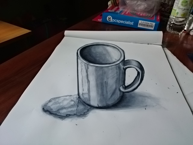 3d mug drawing in ink by pyrodragoness on deviantart for 3d drawing online no download