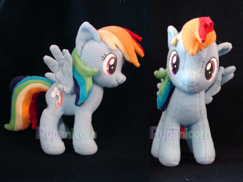 rainbow dash plushie by lemonkylie