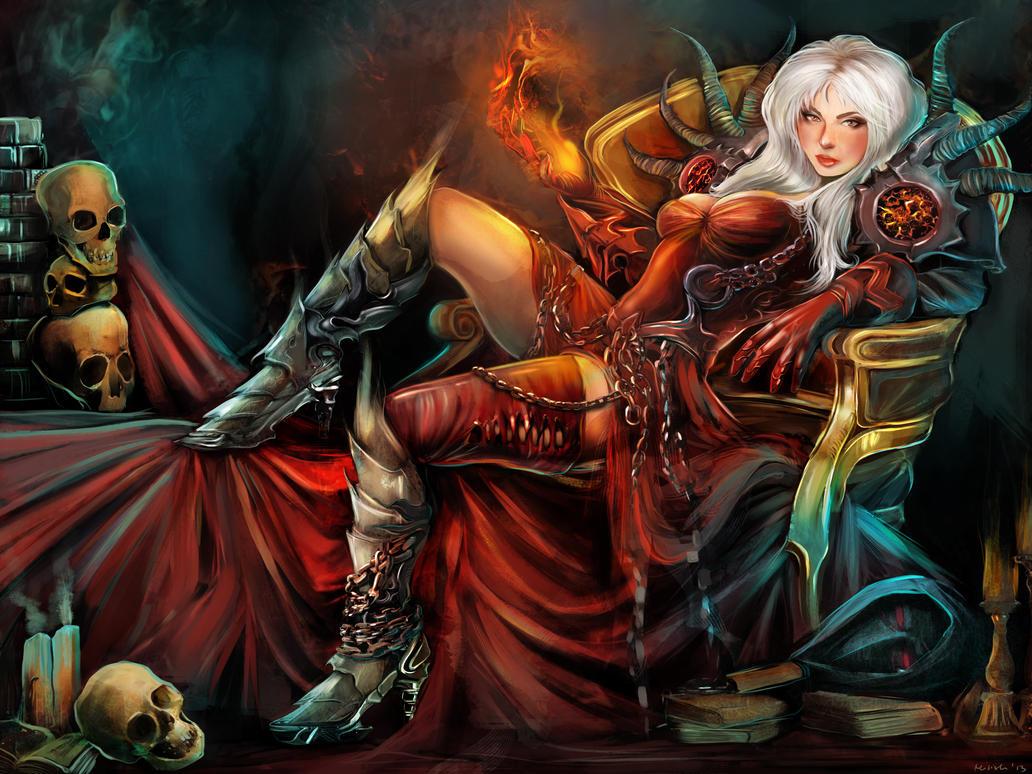 Milisz the warlock by Milish