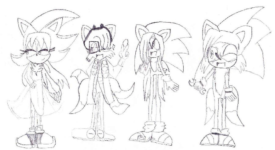 Coloriage Sonic And Friends By Ombre03 On Deviantart