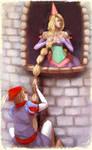 Rapunzel plays hard to get