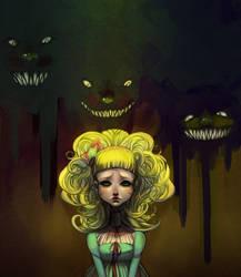 Goldilocks meets the 3 bears by Alicechan