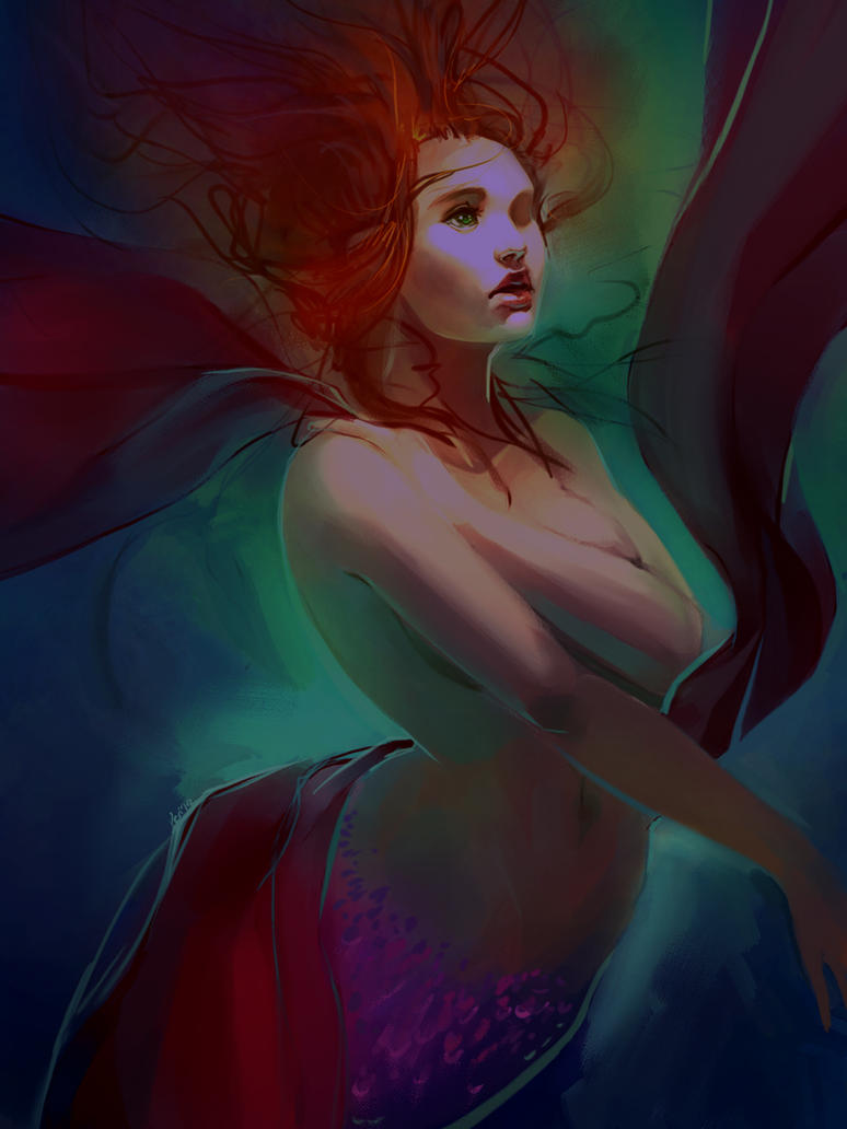 mermaid again by Alicechan