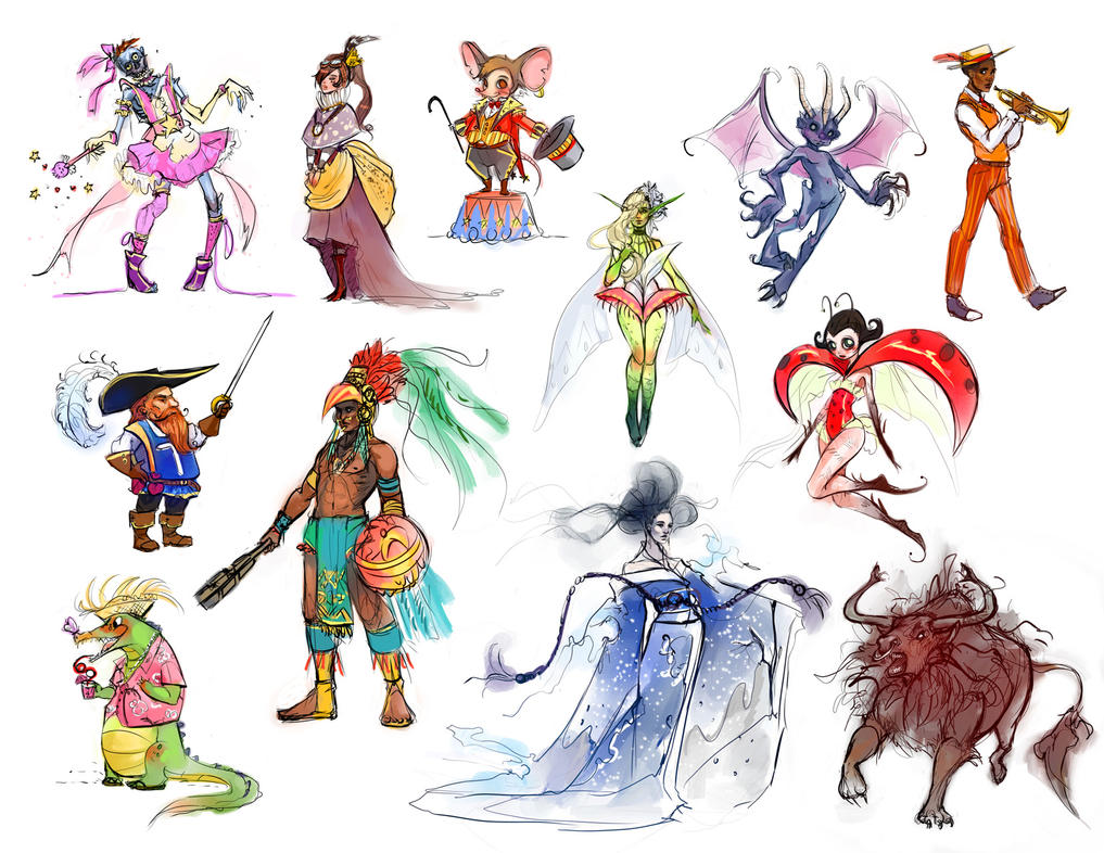 12 Characters by Alicechan