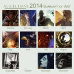 A year of art 2014 style
