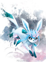 Glaceon - sketch by Pegaite