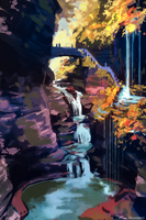 Speedpaint waterfall