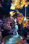 Speedpaint waterfall