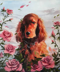 Acrylic painting - Bella by Pegaite