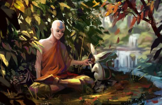 Aang And Momo - fan art