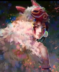 Mononoke Hime by Pegaite