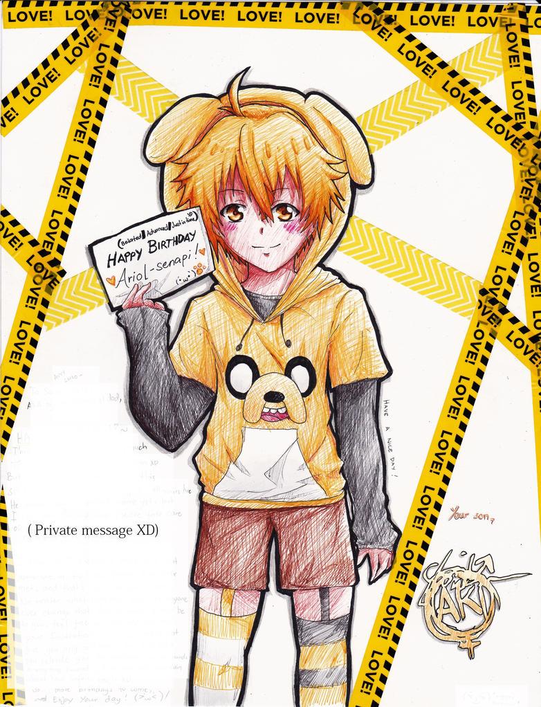 [G] Yellow-kun! by TheAwesomeAki-kun
