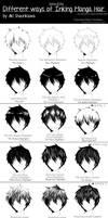 Manga Research Journal: Hair Inking Methods