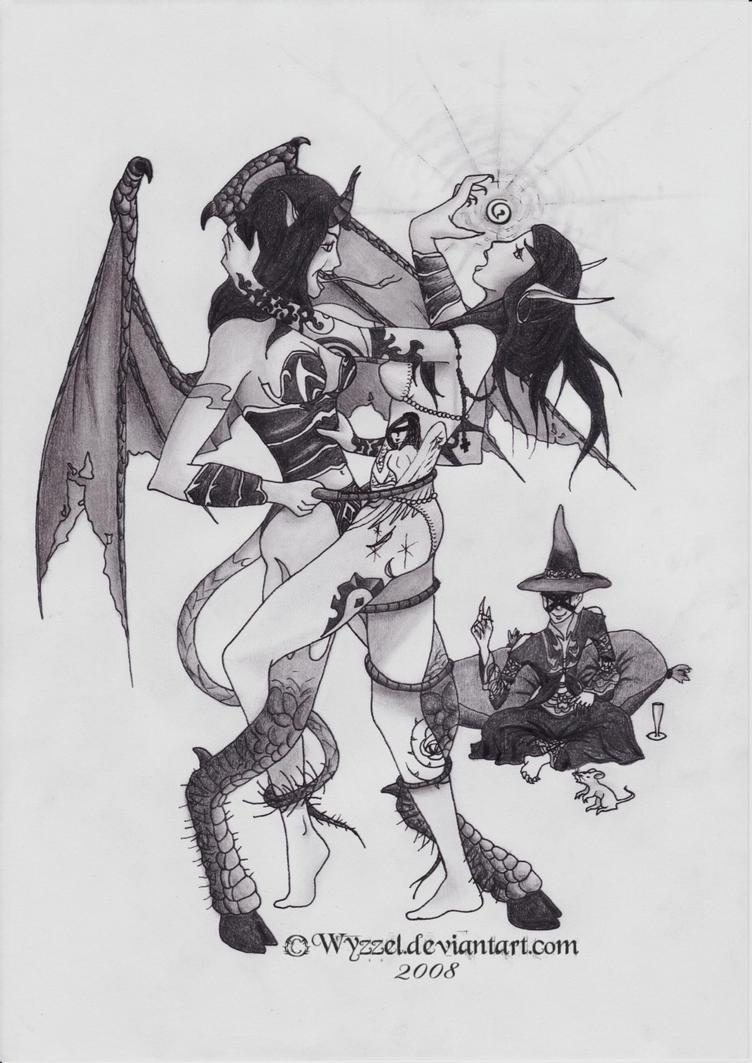 Party time with a warlock by Wyzzel