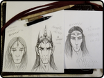181006 Sketchpage - Sauron Morgoth Feanor and ...