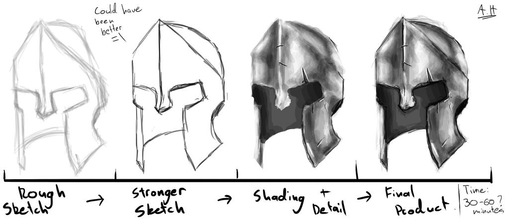 Spartan Helmet Black And White Sketch By Azza1070 On