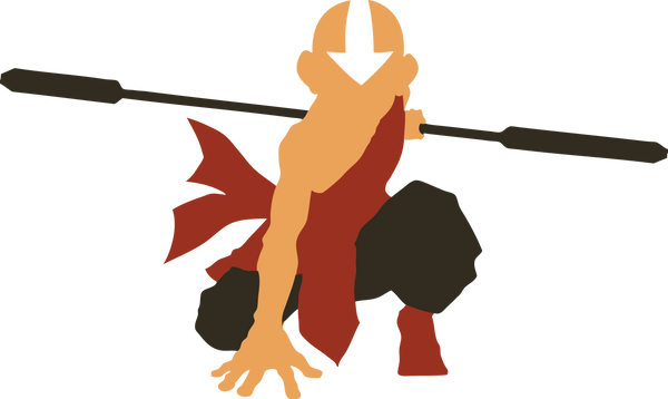 Avatar Aang Silhouette by Azza1070 on DeviantArt