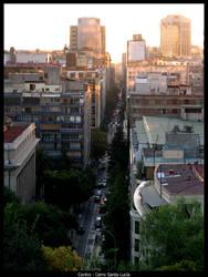 Santiago from Santa Lucia hill by ephedrina-photos