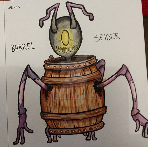Barrel Spider by Cup-of-VictoryTea