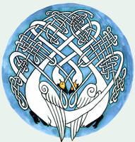 Celtic Knot Swan by Vihma