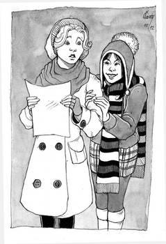 MDE - Christine and Meg, Hockey Friend