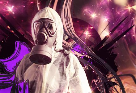 Guy in a Gas Mask by kakashi0hatake