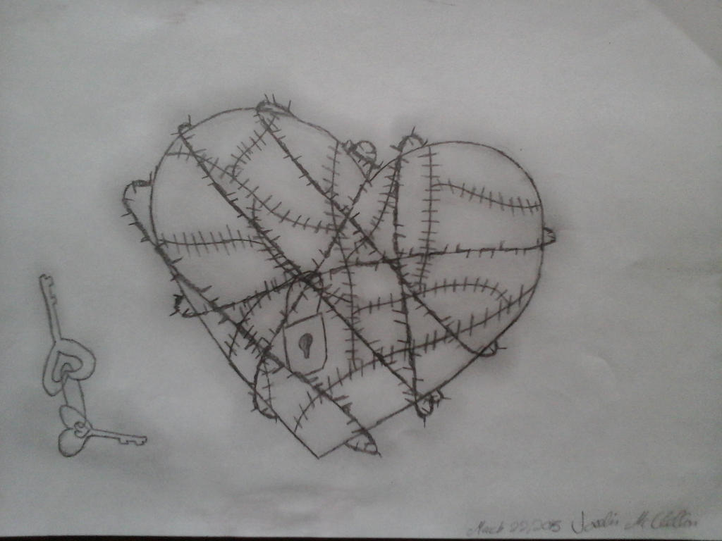 Heart Locked With Barbed Wire by watervsfire-alchemy on DeviantArt