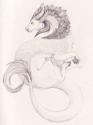pencil Cattlecat by TaruHanako
