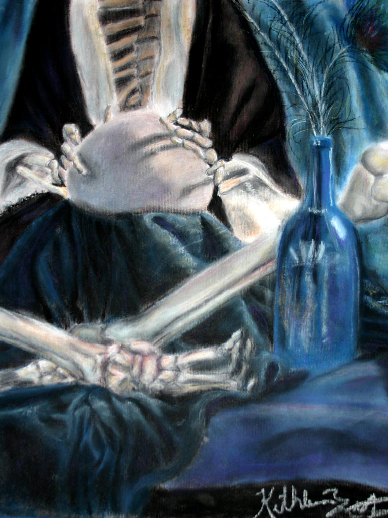 Skeleton pastel practice by LarkArtistry