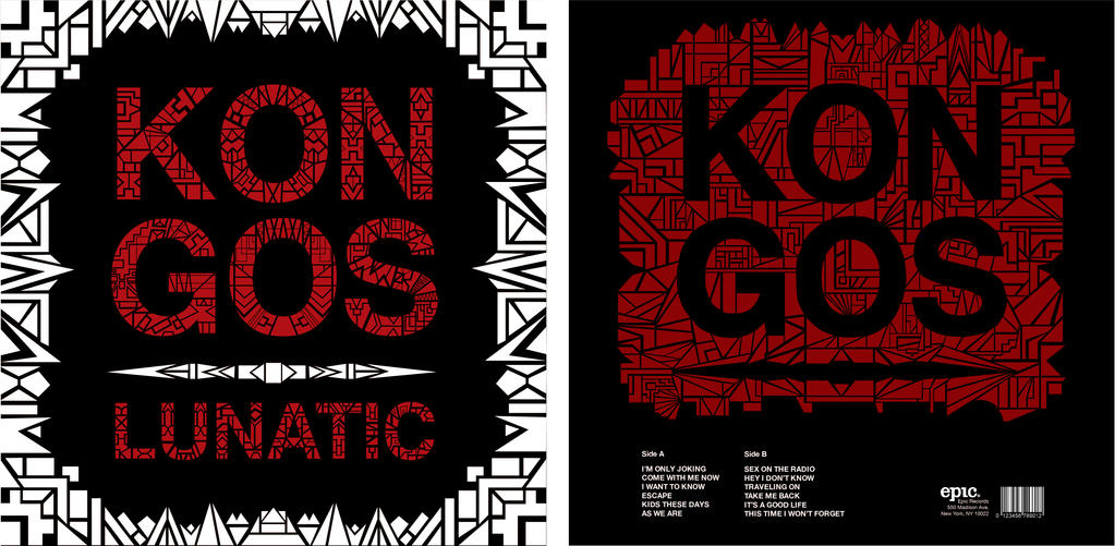 Kongos lunatic record album concept front and back by LarkArtistry