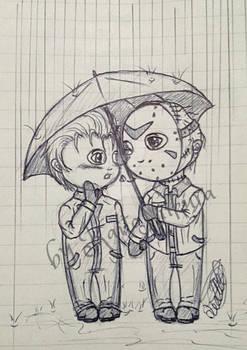 Jason and Michael chibi