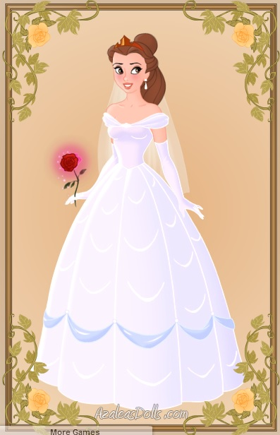 Belle 39 s wedding dress by christinebelle16 on deviantart for Wedding dress like belle from beauty and the beast