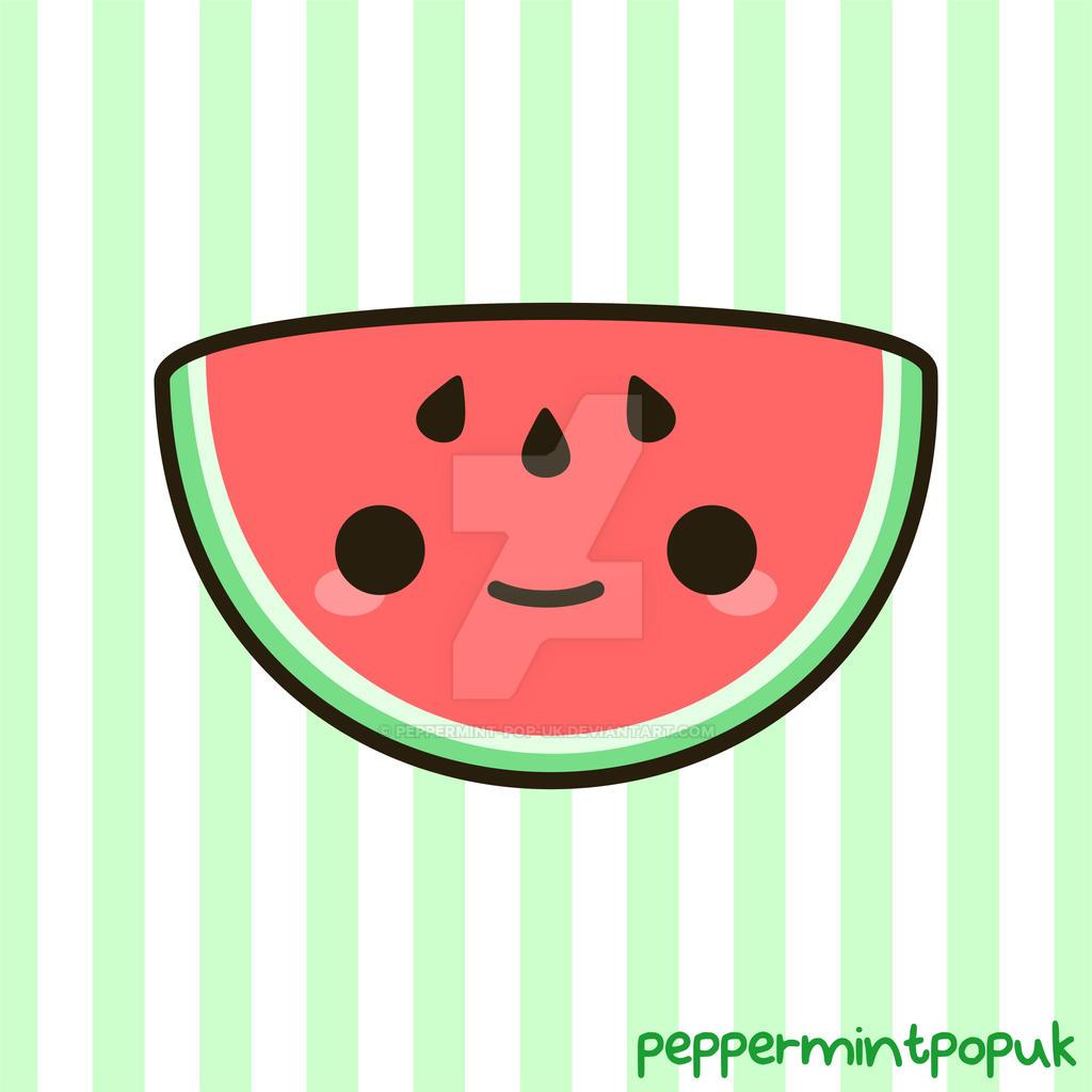 Yummy kawaii watermelon by peppermint-pop-uk on DeviantArt