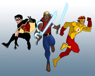 YOUNG JUSTICE - Founding Members by Remortal