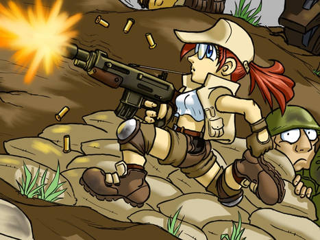 Metal slug fio close up