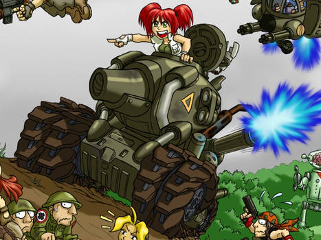 Metal Slug - Nadia close up