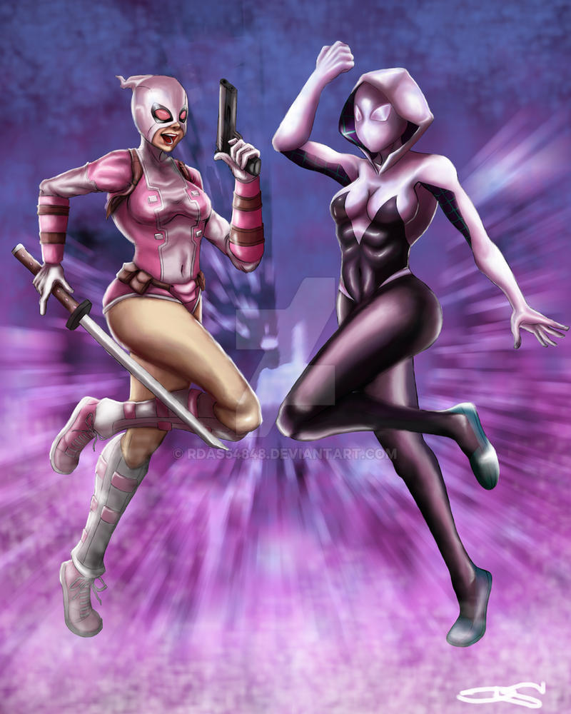 Spider-Gwen and Gwenpool by rdas54848