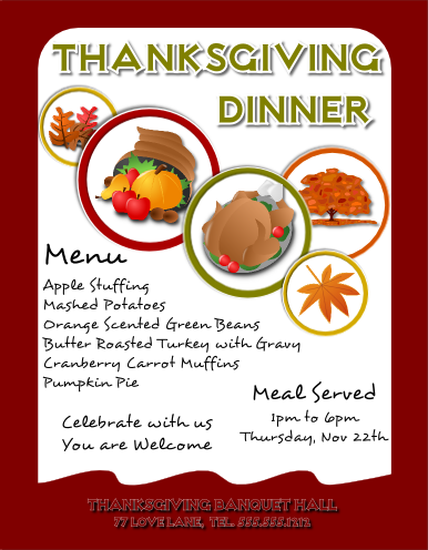 Thanksgiving Flyer by flyertutor