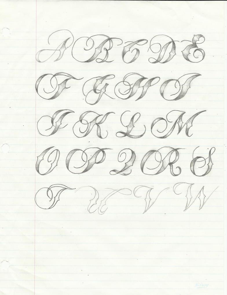 Script calligraphy tatoo font by light thehorizon on Script art