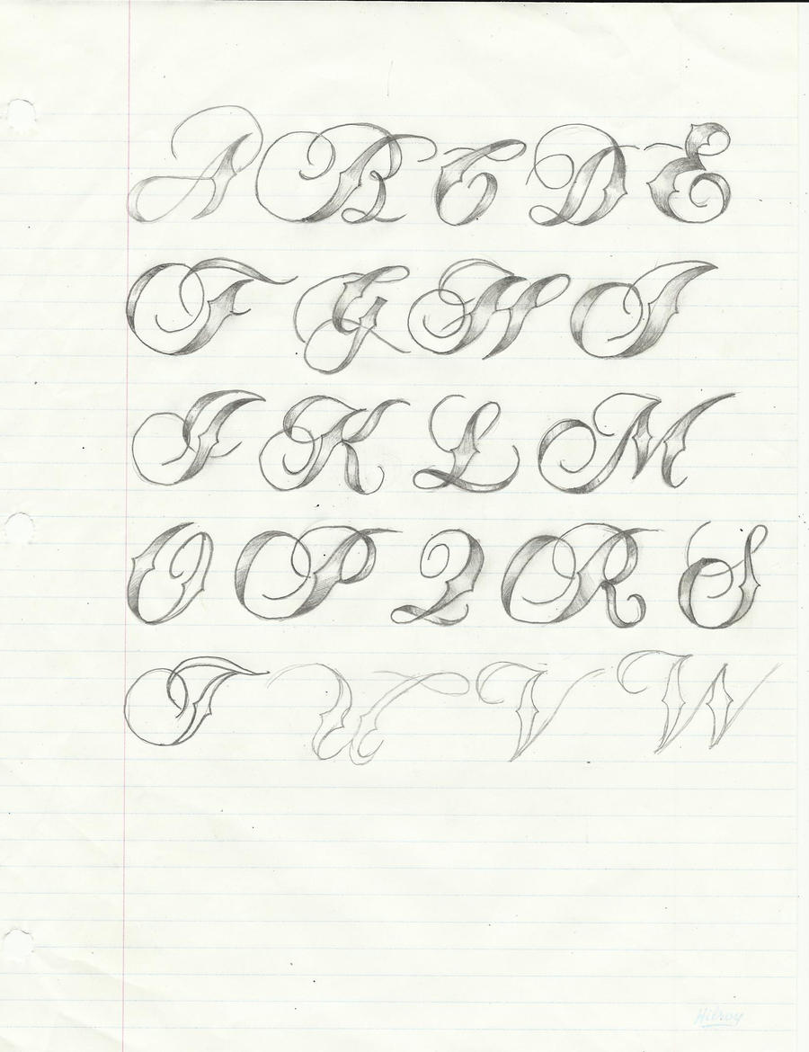 Script calligraphy tatoo font by light thehorizon on