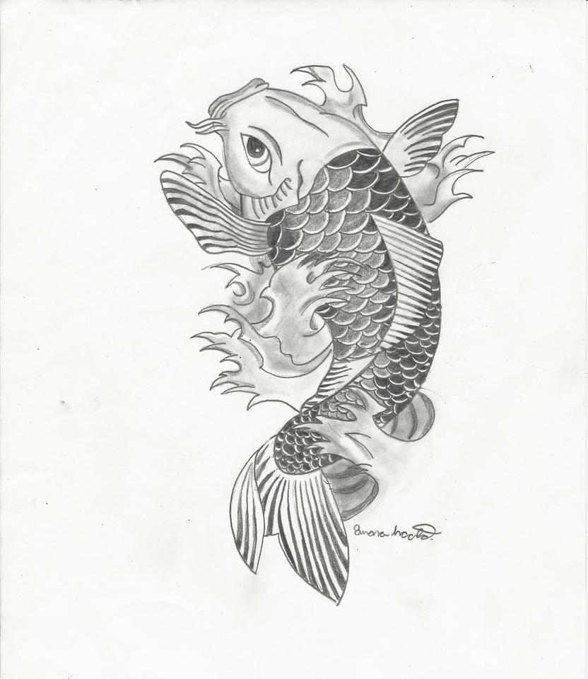 Koi fish 2 by light thehorizon on deviantart for Coy fish drawing