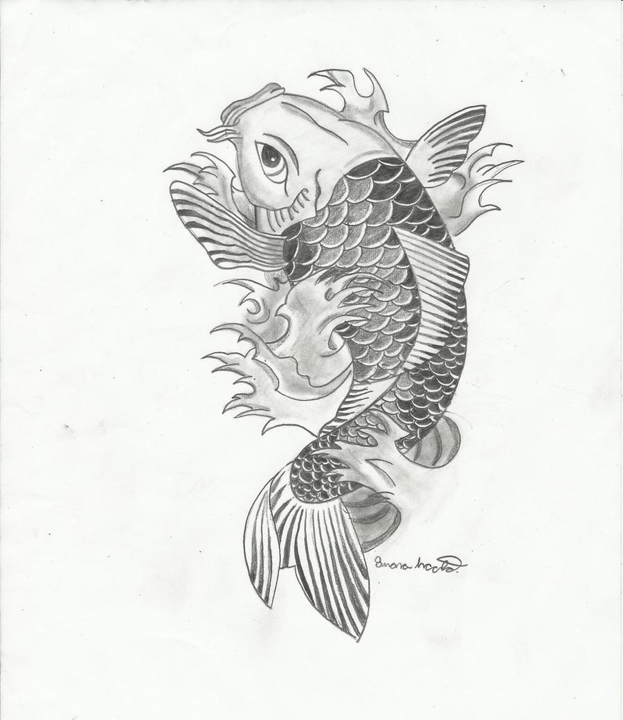 Koi fish 2 by light thehorizon on deviantart for Japanese koi fish drawing