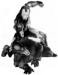 Iron Man X Magneto by tin-aw