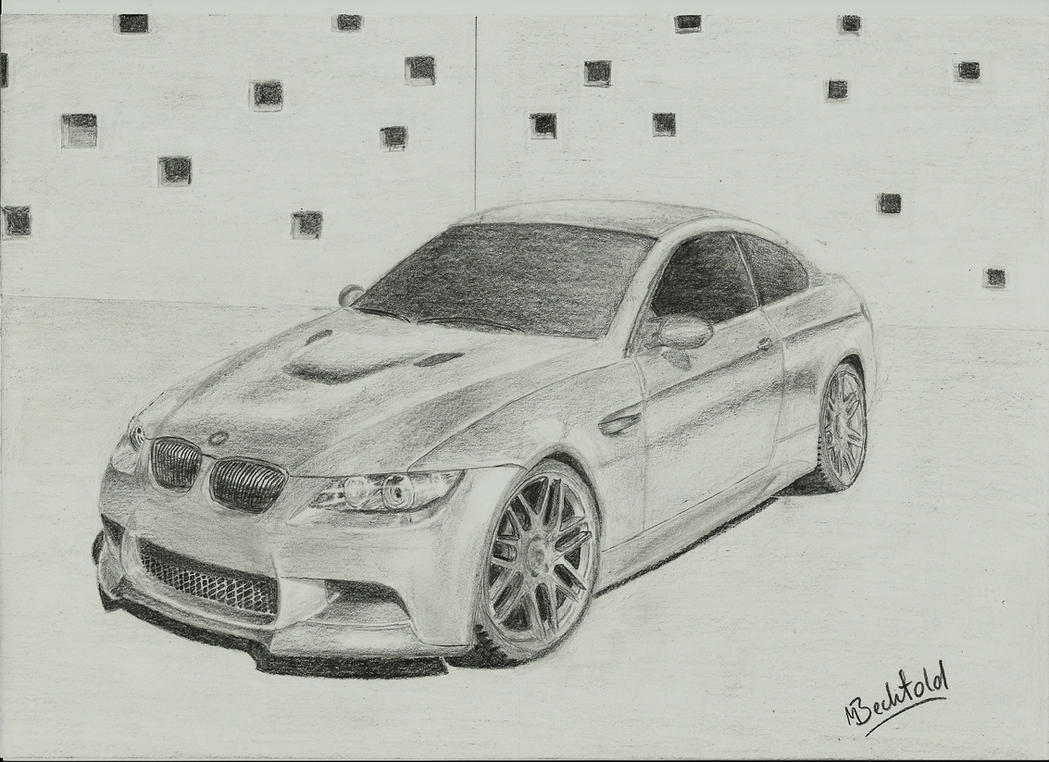 BMW 3 Series 3er Car Drawing Realistic by MaxBechtold on DeviantArt