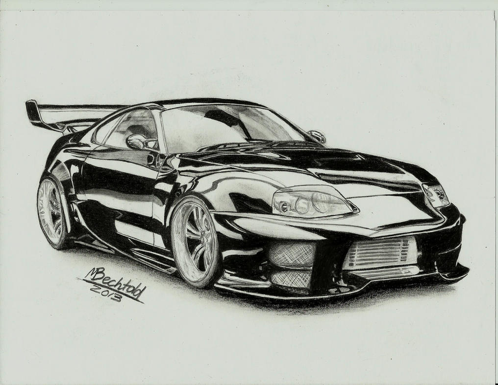 Toyota Supra Tuning Car Drawing Realistic by MaxBechtold on DeviantArt